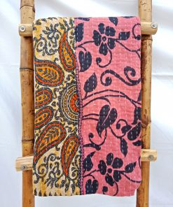 Kantha Paisley and Floral Throw
