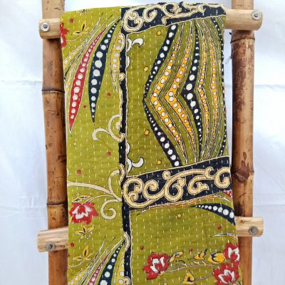 Artisan handstitched Kantha Quilt