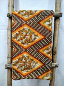 Paisley and Geometric Print Kantha Throw