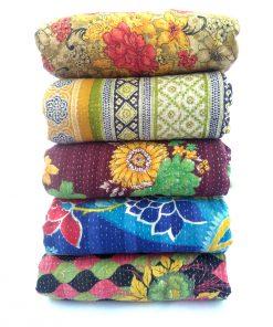 Heavy Vintage Kantha Quilt