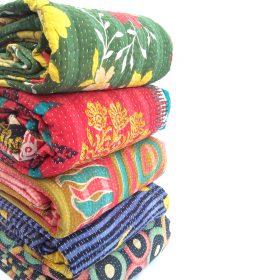 indian kantha quilt
