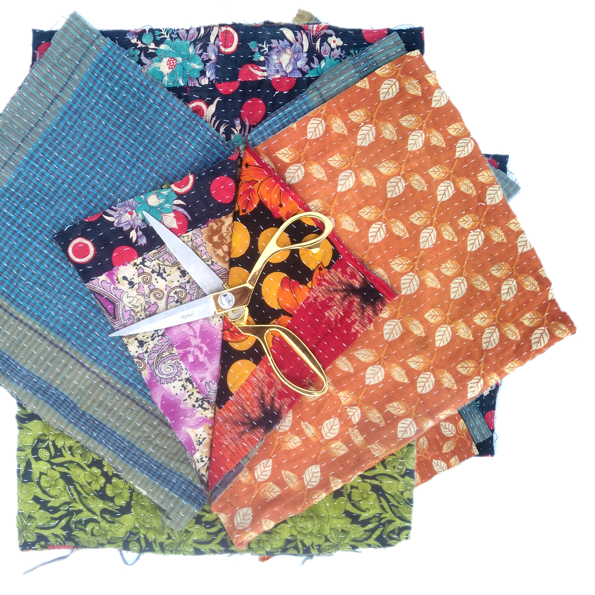 Kantha Remnants Fabric Scrap