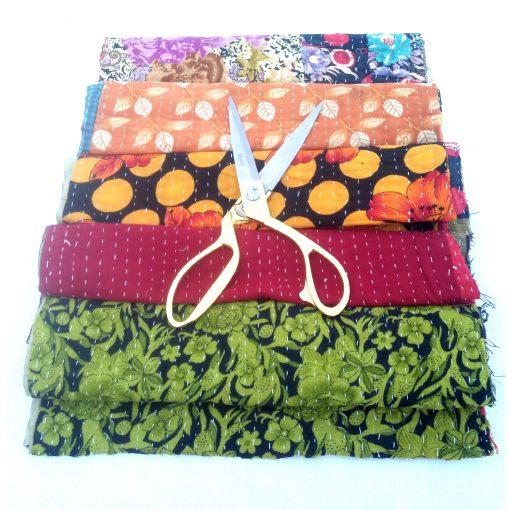 Kantha Scrap Lot for Craft Making