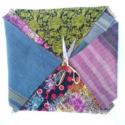 Kantha Quilt Scrap for Craft Making