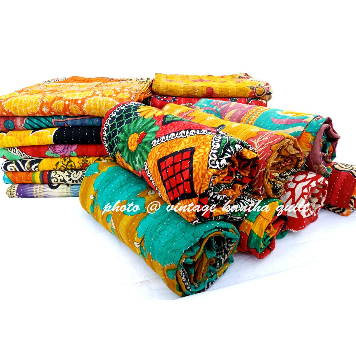 Divina Vintage Kantha Quilt Lot