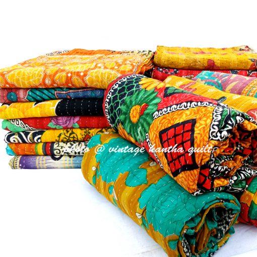 Alkanshi Vintage Kantha Quilt lot