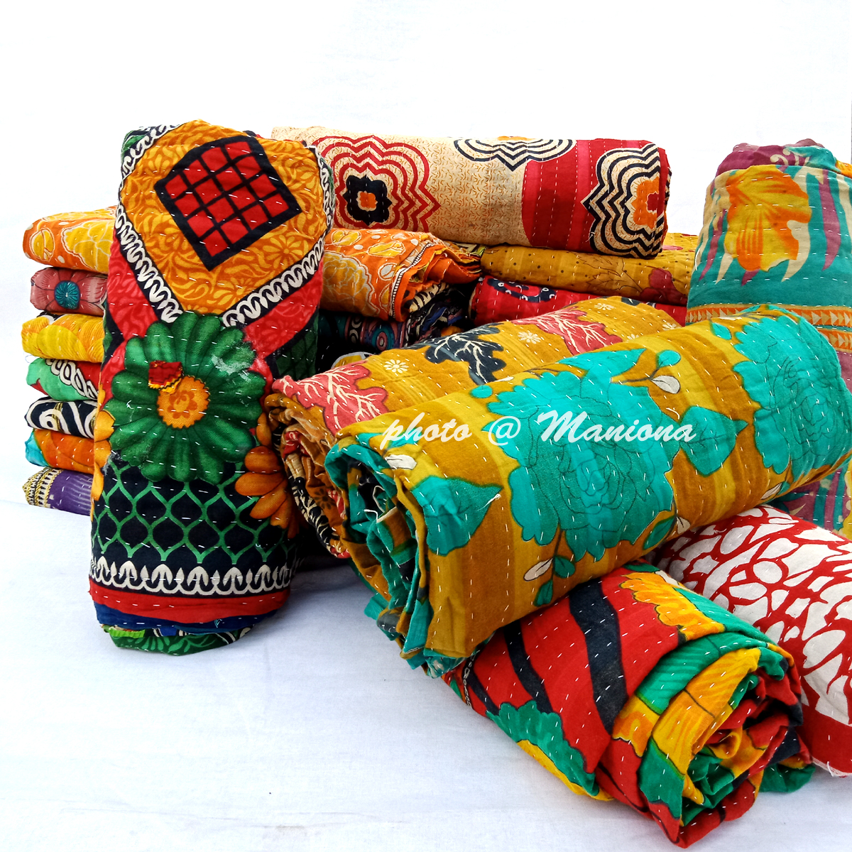 Indian Vintage Kantha throw lot