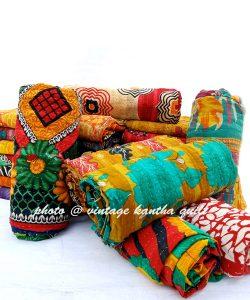 Vintage Kantha Quilt lot by Lalli