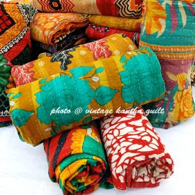 Vintage Kantha Quilt by Lalli