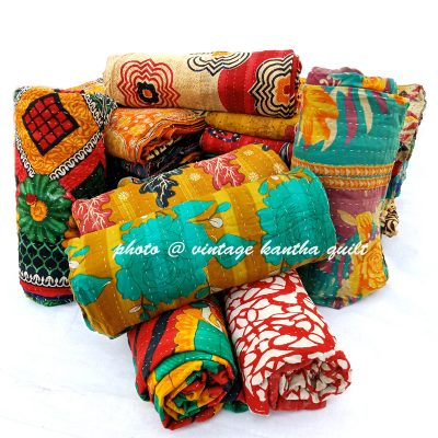 Vintage Kantha Quilt lot by Mira