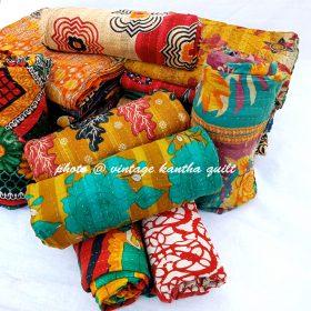 Vintage Kantha Quilt by Mira