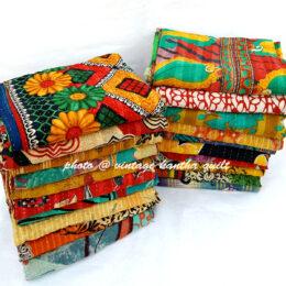 Vintage Kantha Quilt by Jyoti
