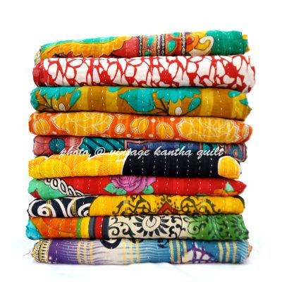 Buy vintage Kantha Throw