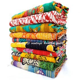 Indian Kantha Throw