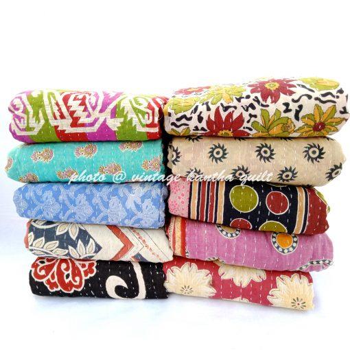 Vintage Handmade Kantha Quilt Wholesale