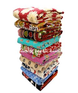 Vintage Reversible Kantha Quilt
