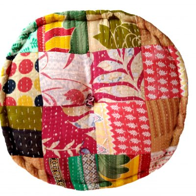 Vintage Kantha Patchwork Floor Cushion