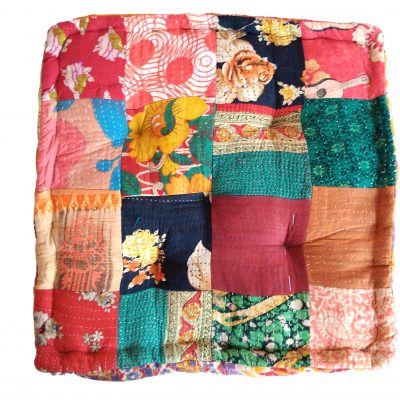 Indian Kantha Patchwork Floor Cushion
