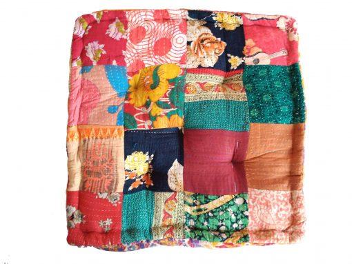 Indian Kantha Patchwork Floor Cushion