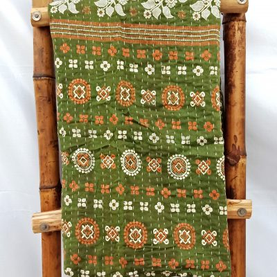 Vintage Kantha Quilt Throw