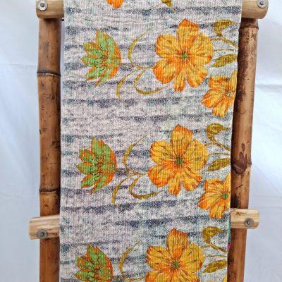 Spring Floral Kantha Quilt