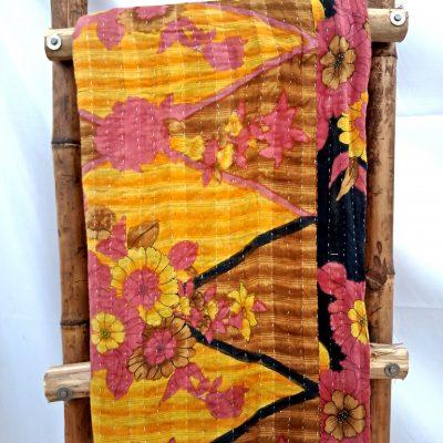 Floral Pattern Kantha Quilt