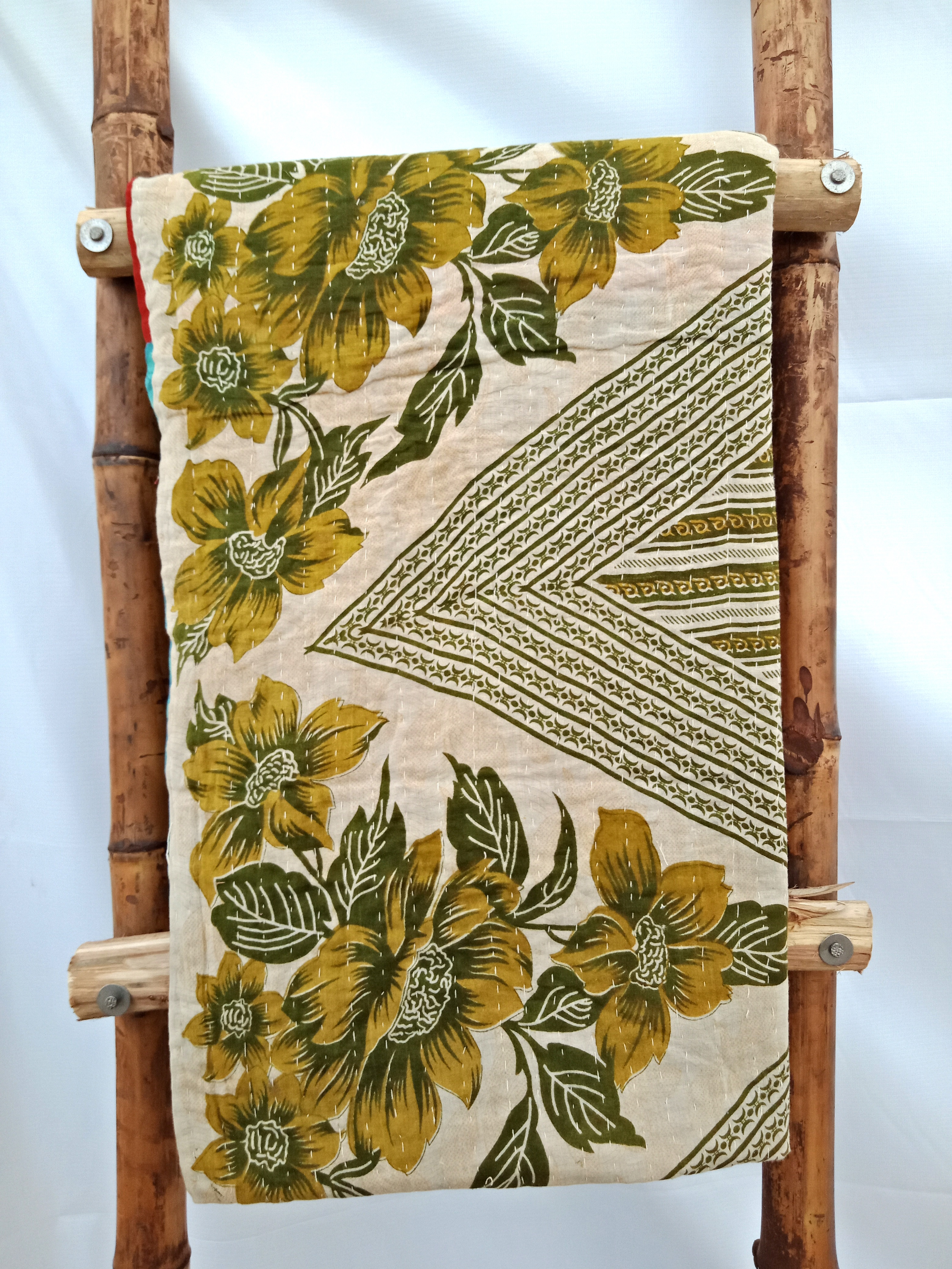 Kantha Embroidered Quilt