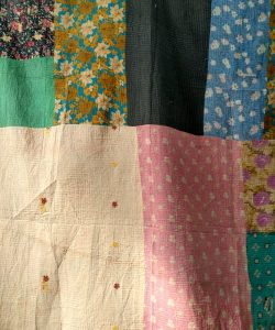 Close Stitched queen Kantha Quilt