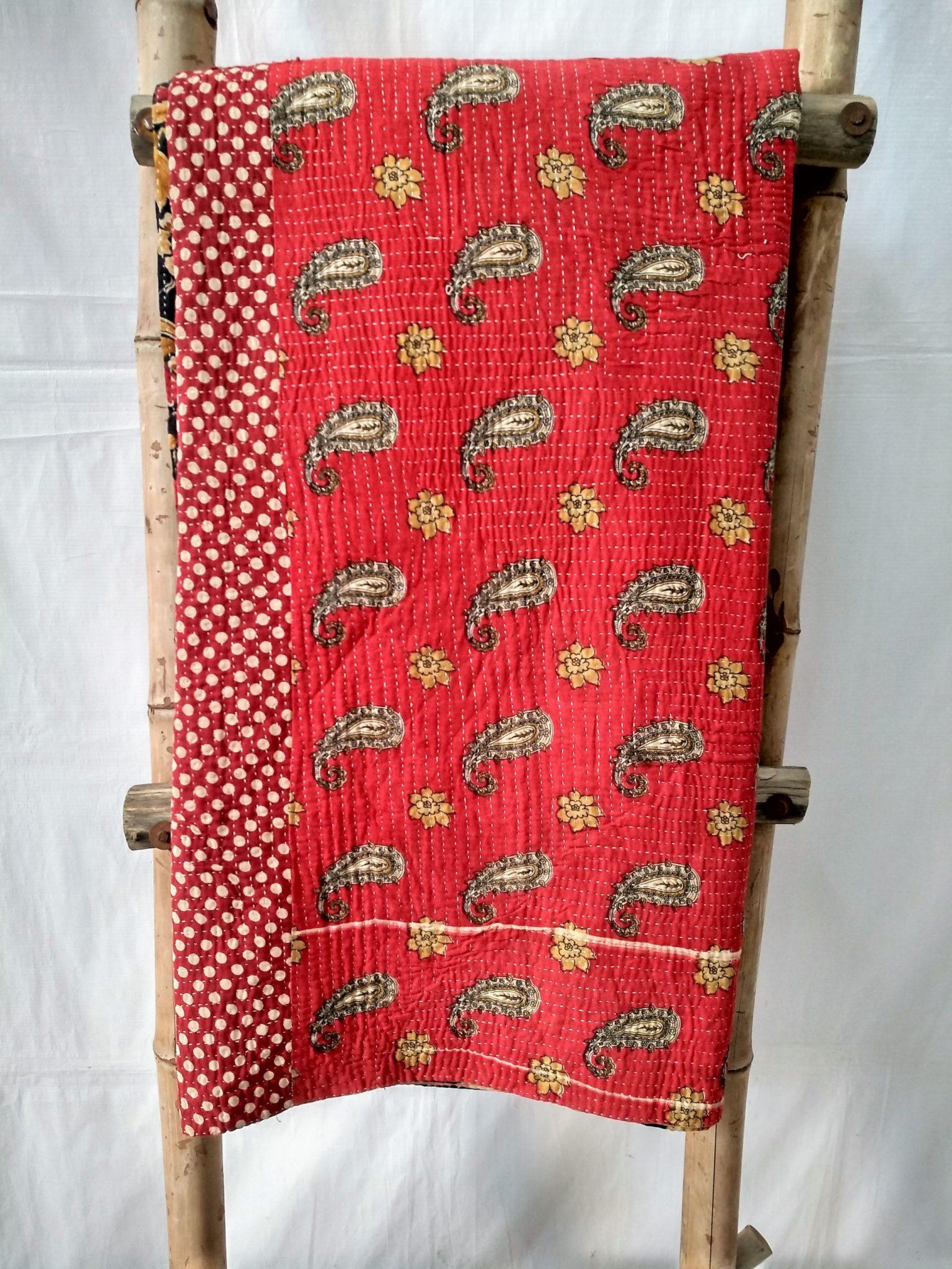 Close Stitched Heavy Kantha Quilt