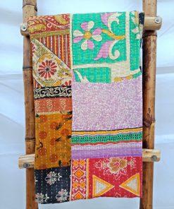 Patchwork Vintage Kantha Quilt