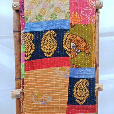 Paisley Patchwork Kantha Quilt