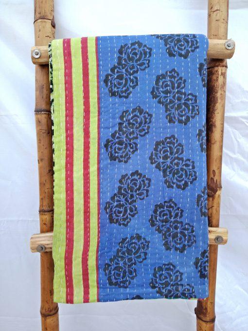 Blue Vintage Kantha Quilt
