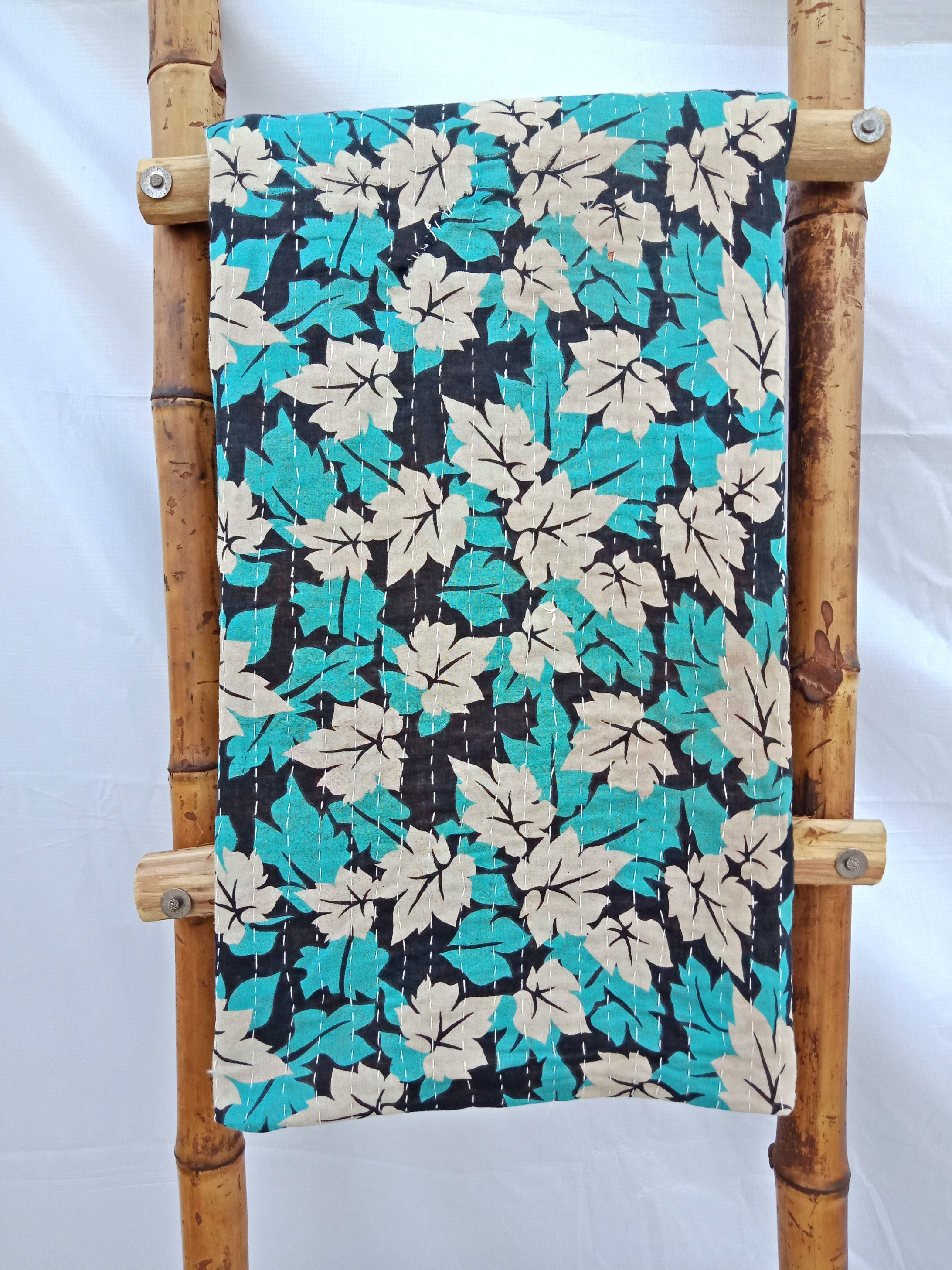 You & Me Vintage Kantha Quilt