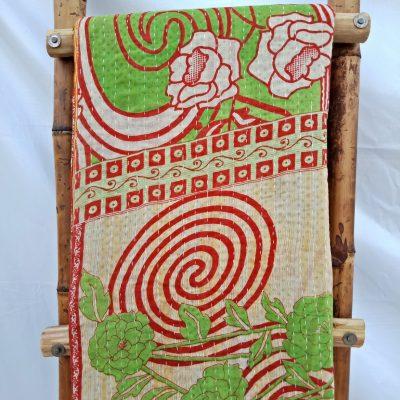 Spiral Vintage Kantha Quilt