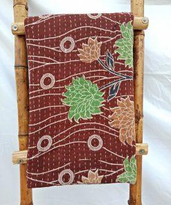 3 Layered Vintage Kantha Quilt