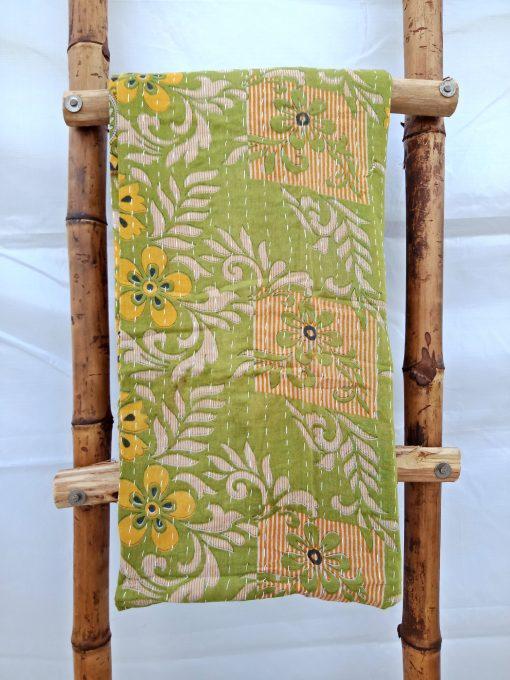 Stripe Vintage Kantha Quilt