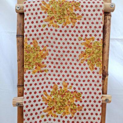 Vintage Polka Dot Kantha Quilt