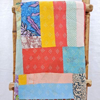 6 Layered Patchwork Kantha Quilt