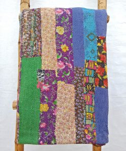 Close Stitched Patchwork Heavy Kantha Quilt