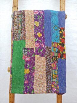 Close Stitched Patchwork Heavy Kantha Quilt