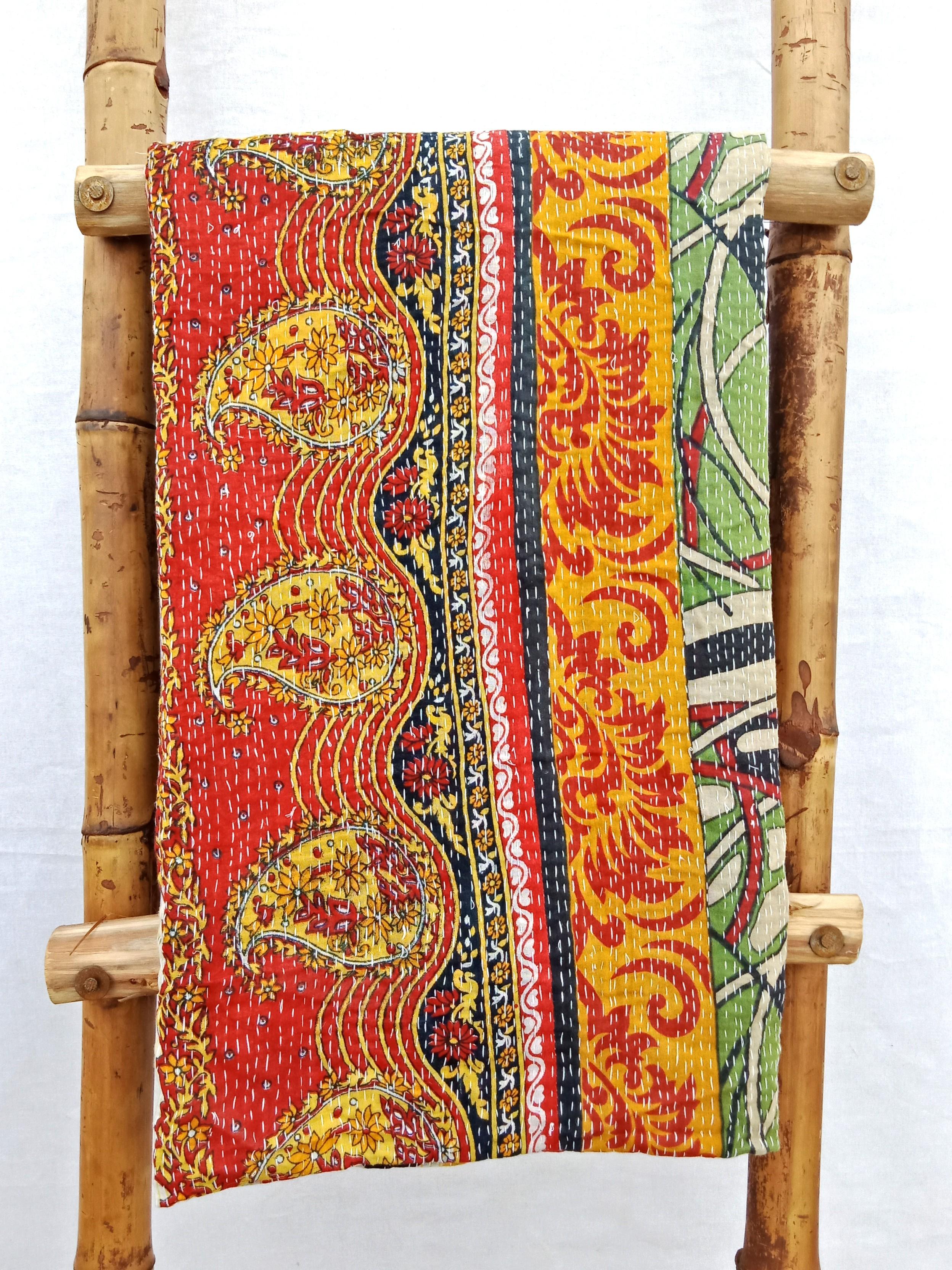 2 layered Close Stitched Kantha Quilt