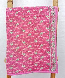 Floral Baby Vintage Kantha Quilt