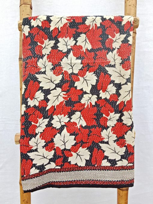 Close Stitched Baby Kantha Quilt