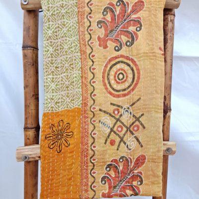 West Bengal Vintage Kantha Quilt