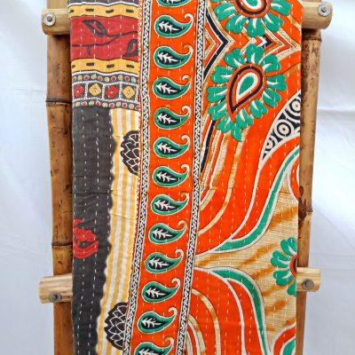 Vintage Kantha Twin Quilt