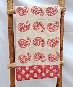Paisley Vintage Kantha Bengal Quilt