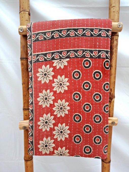 Floral Vintage Bengal Kantha Quilt