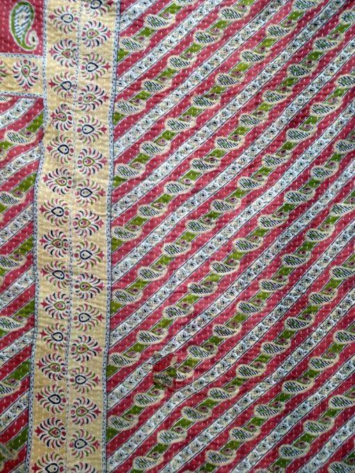 twin floral kantha blanket