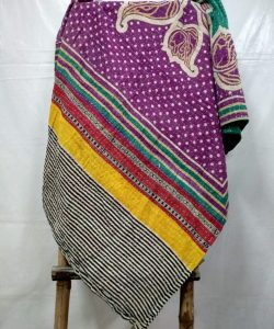 Twin Polka Indian Kantha Quilt