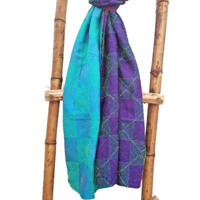 Blue Kantha Scarf